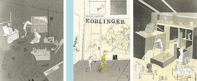 Fra festivalutstillingen med Øyvind Torseters tegninger: Koblinger